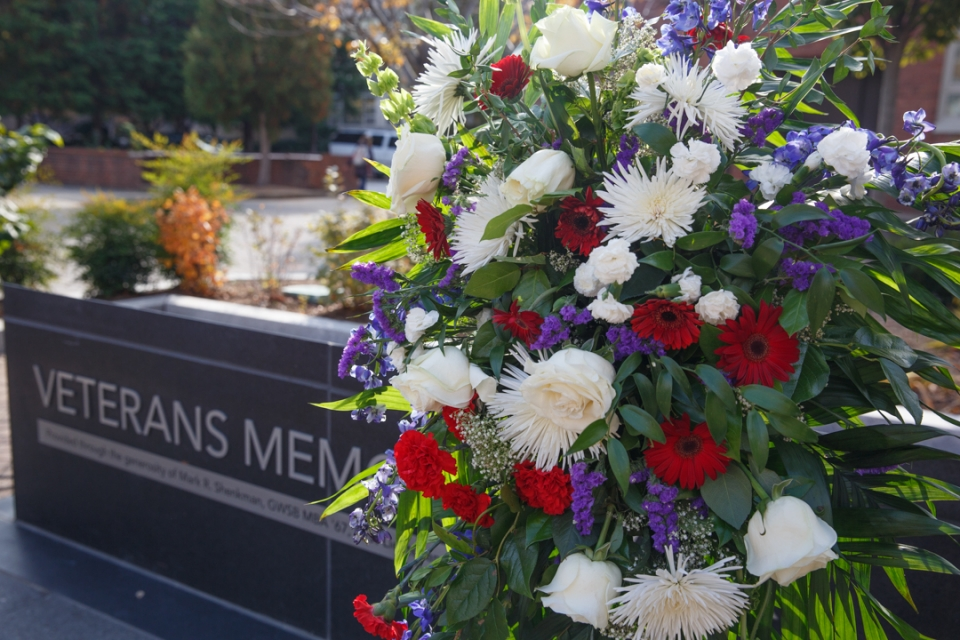 Unlike Memorial Day, which celebrates fallen service members, Veterans Day is set aside to thank and commemorate all who have served. (William Atkins/GW Today)