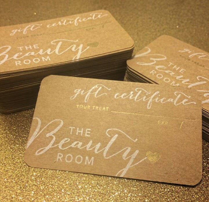 Kana Brown's Beauty Room Gift Cards for makeup lessons, facials, & full body waxing