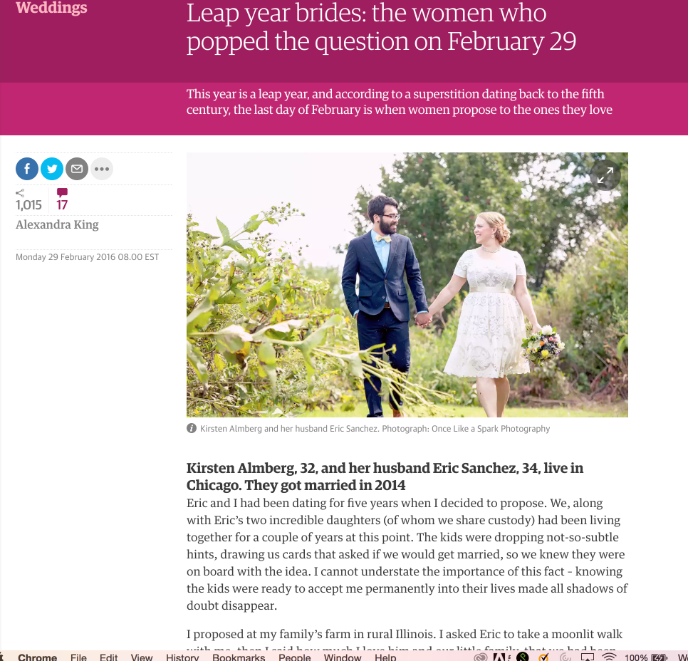 The Guardian leap year brides