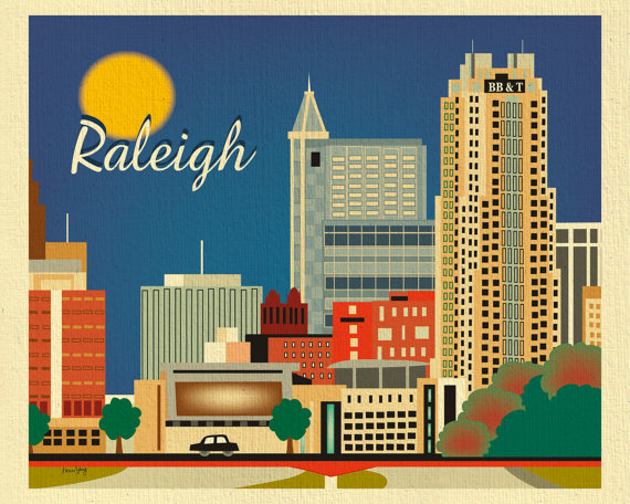 source: Loose Petals Etsy Shop https://www.etsy.com/listing/115349414/raleigh-skyline-print-raleigh-nc-gift