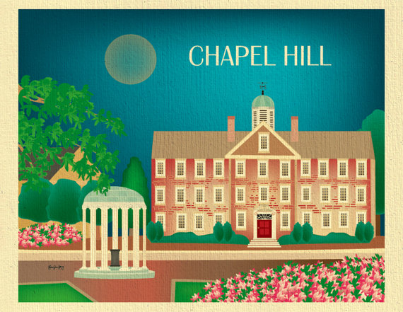 Source: Loose Petals Etsy Shop https://www.etsy.com/listing/226458654/chapel-hill-print-north-carolina-skyline