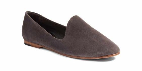 VINCE... - Velvet is EVERYwhere this fall and these VINCE loafers let you incorporate the trend in a bit more of a subtle way, and I LOVE the shape. They also come in a beautiful shade of soft pink that would be a fun contrast to darker colors that are trending this fall such as navy and burgundy.