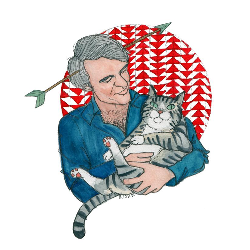 <i>Steve Martin + kitty</i>