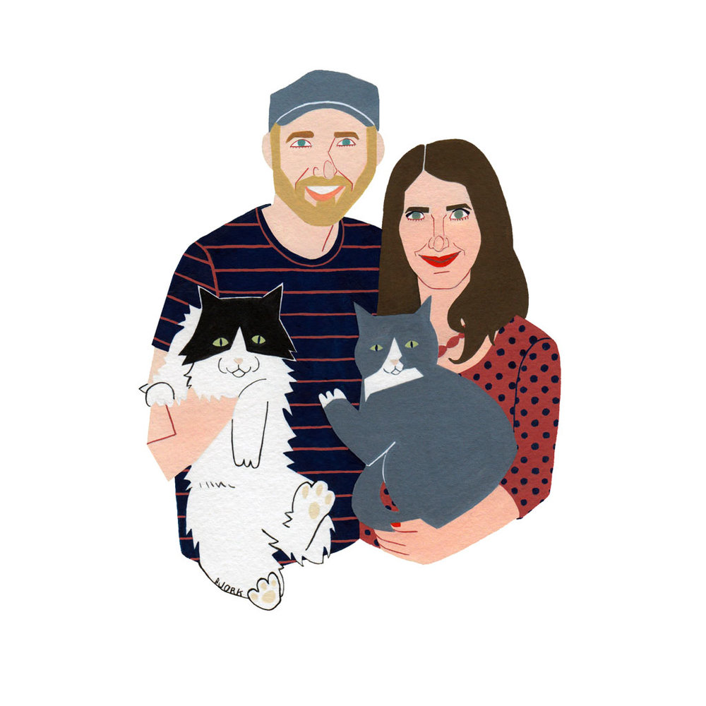 Tom, Jess, Roscoe + Reuben