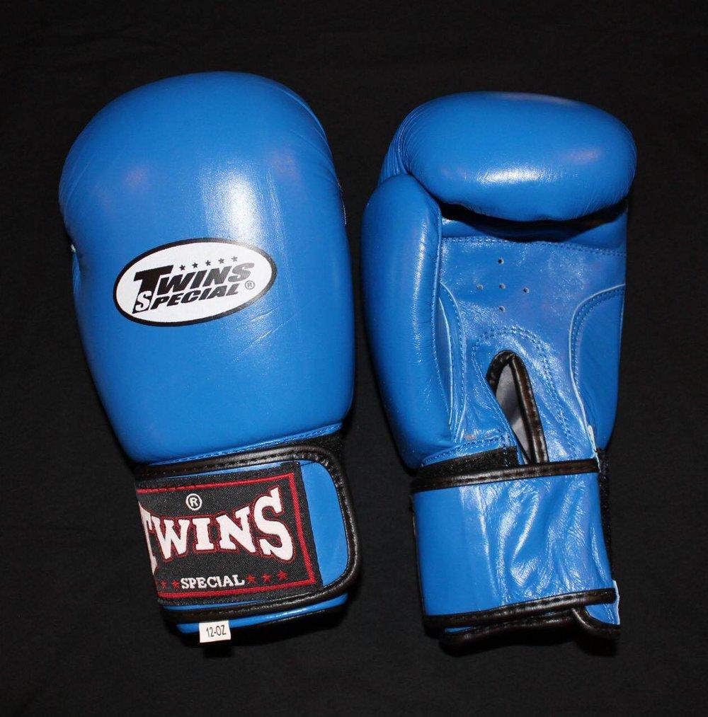Twins boksehansker blå kr 599,-
