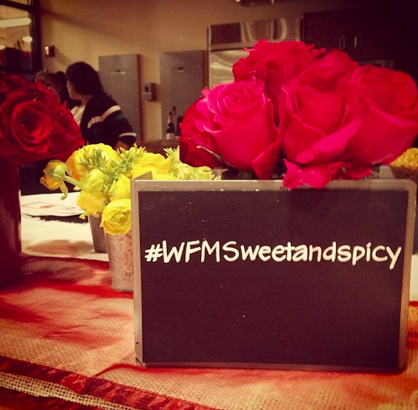 In February we helped coordinate a Valentine's Day Twitter Tasting for Whole Foods Market  -- each guest had their own menu that outlined the courses that would be covered as well as clear signage with the event hashtag.