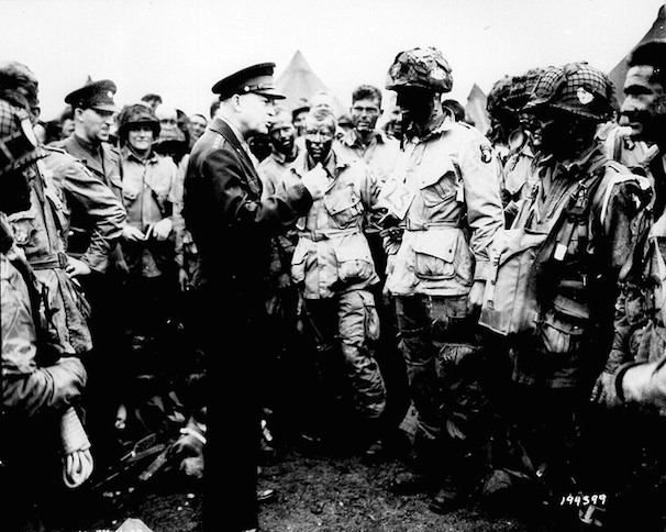 General Dwight D. Eisenhower gives the order of the Day