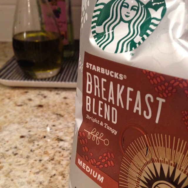 The #hungergrams day 7: #pantrystaple that will help you 'rise' by   @battishill1   #starbucks #breakfastblend
