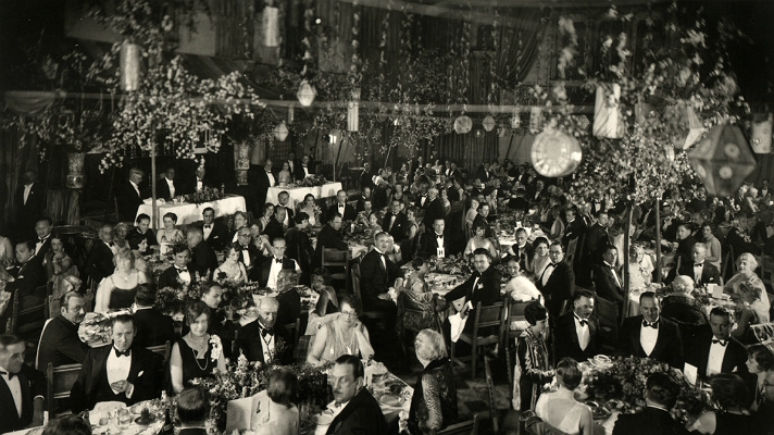 First ever Academy Awards at the Roosevelt Hotel, 1928. (www.discoverlosangeles.com)