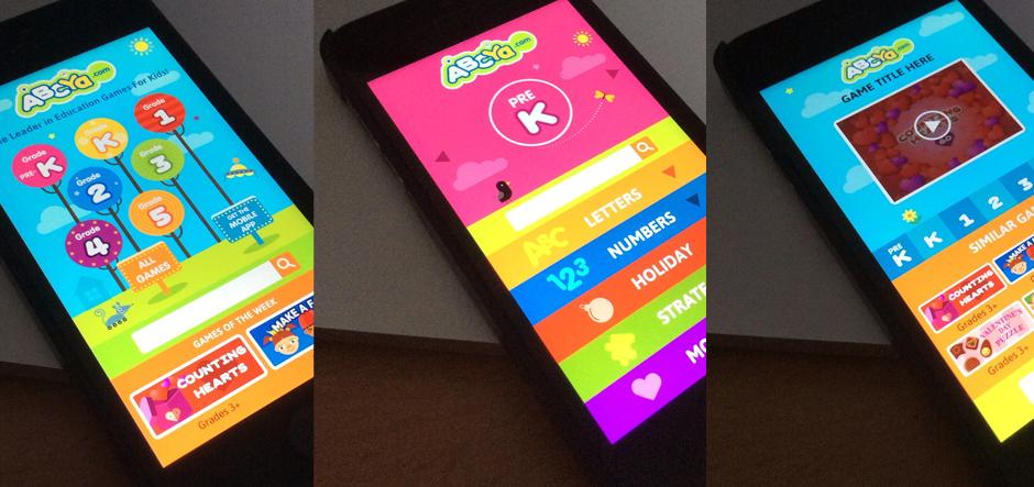 ABCYA.com Mobile UI Design
