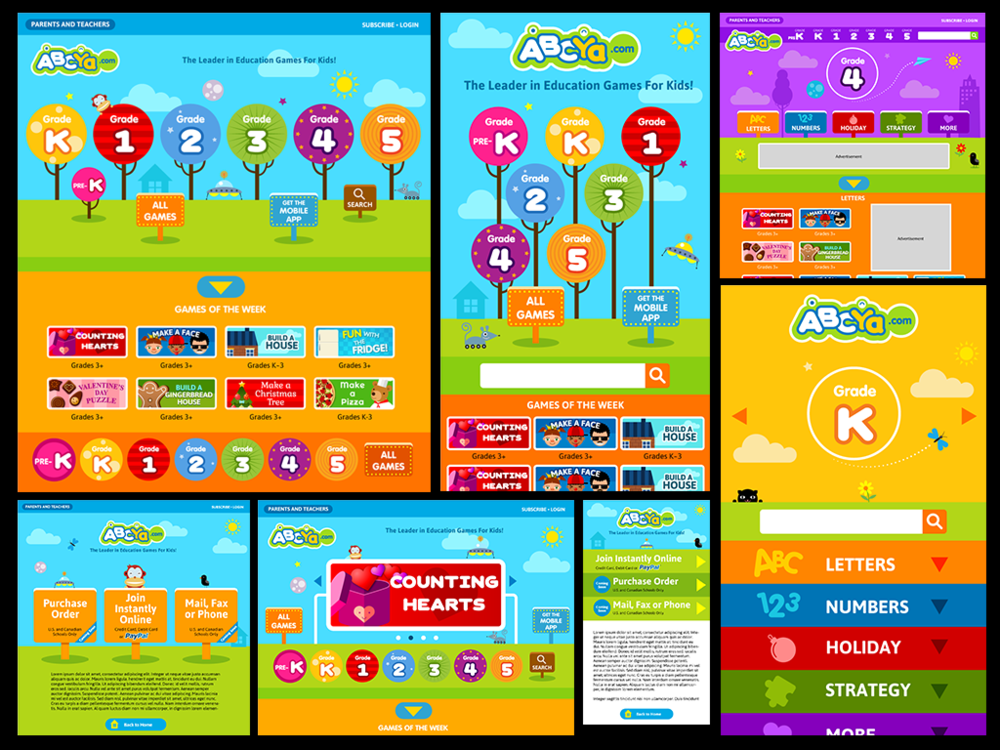 ABCYa.com responsive web site