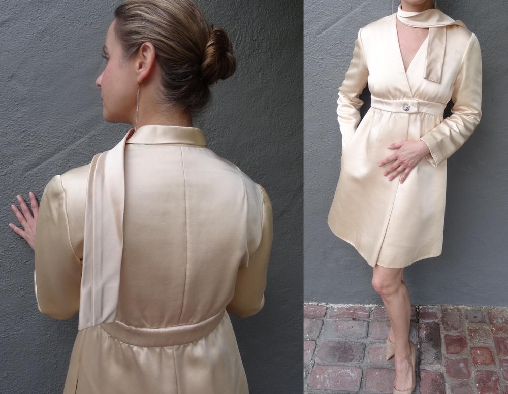 Vintage pale pink silk dress