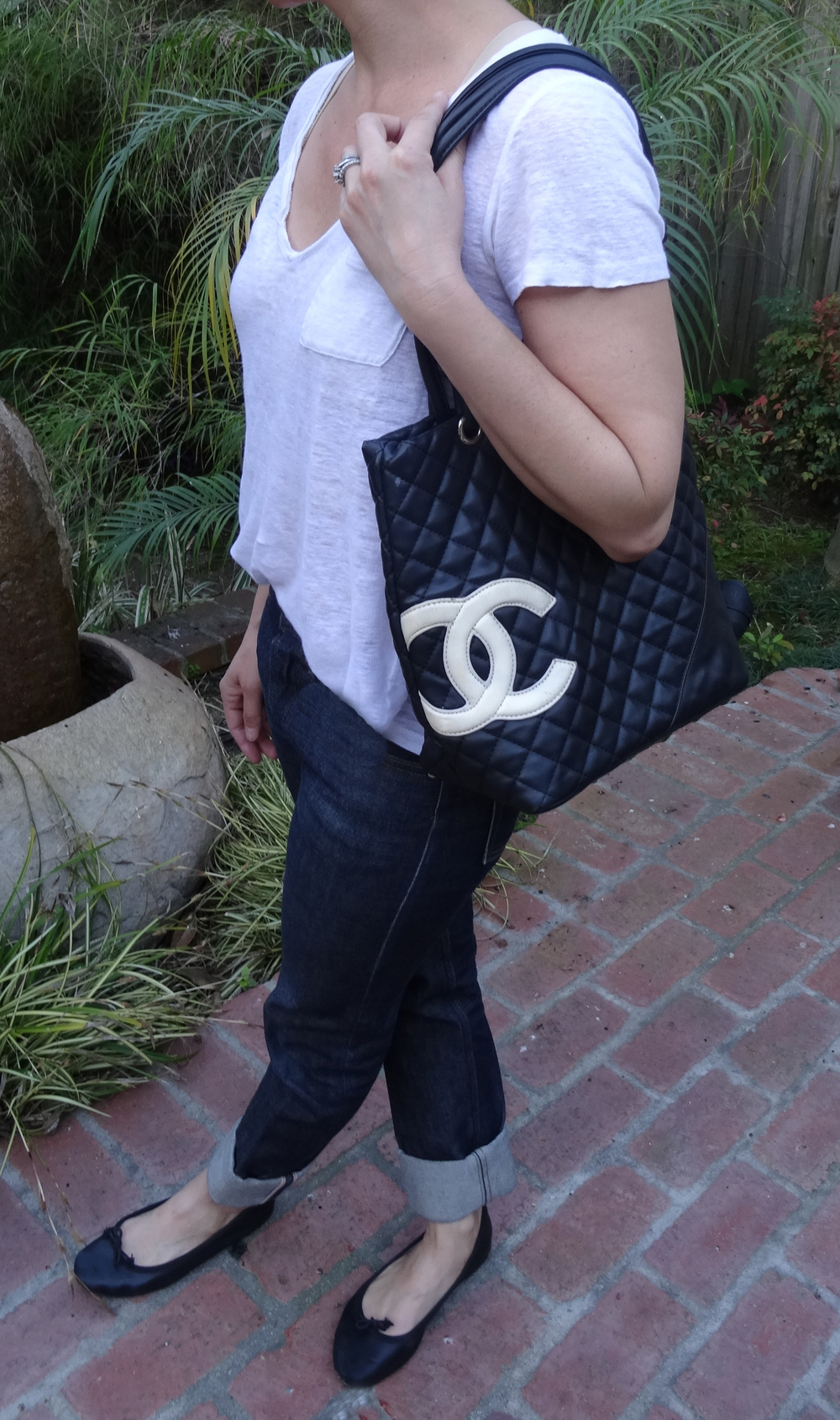 Navy Chanel Tote