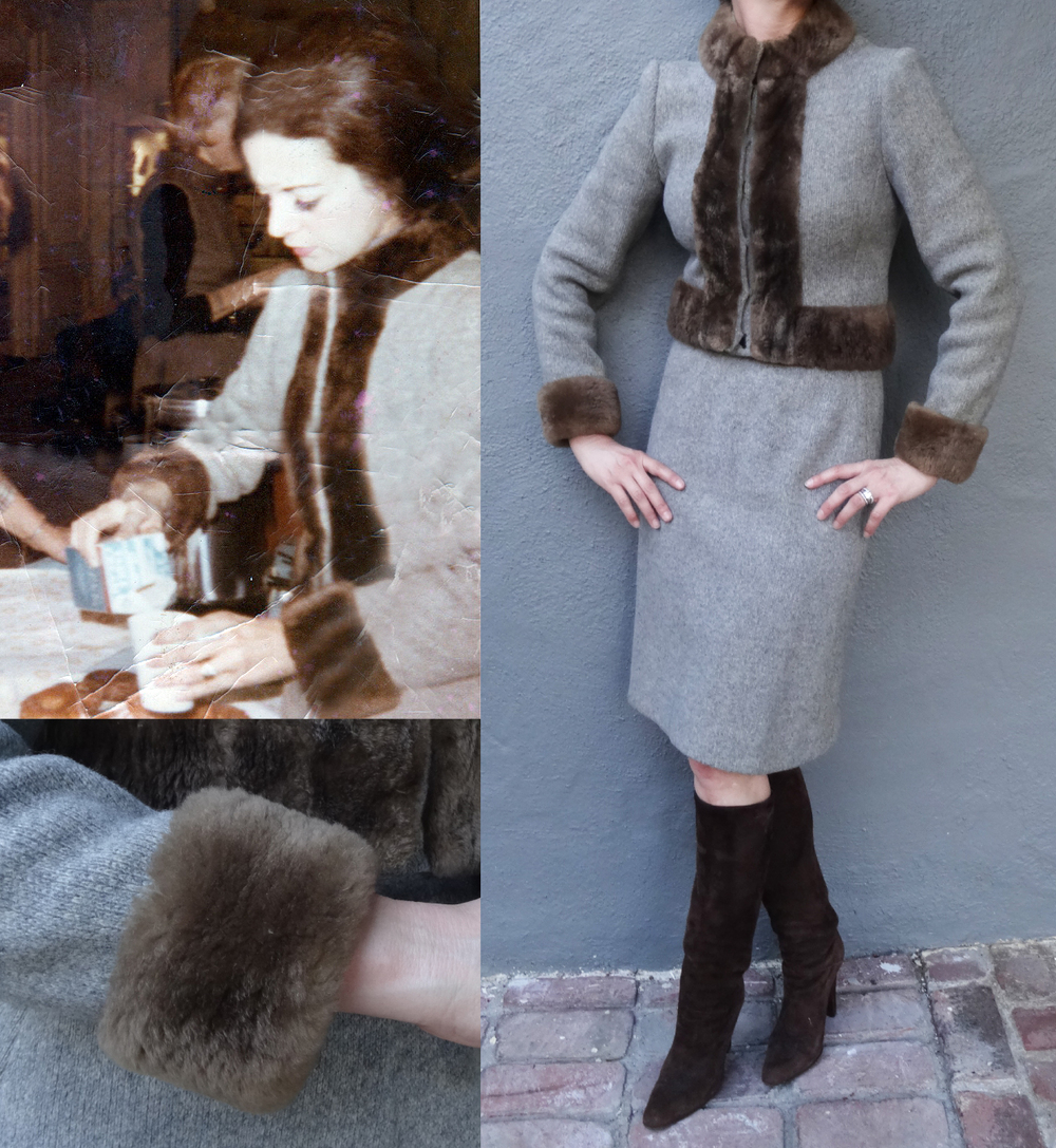 Wool and Chinchilla Suit, Jill Sander boots