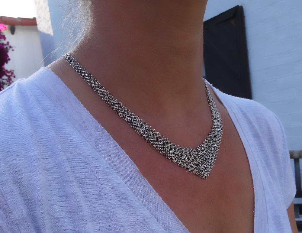 Elsa Peretti mesh bib necklace