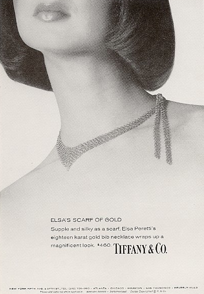 1975 scarf necklace ad