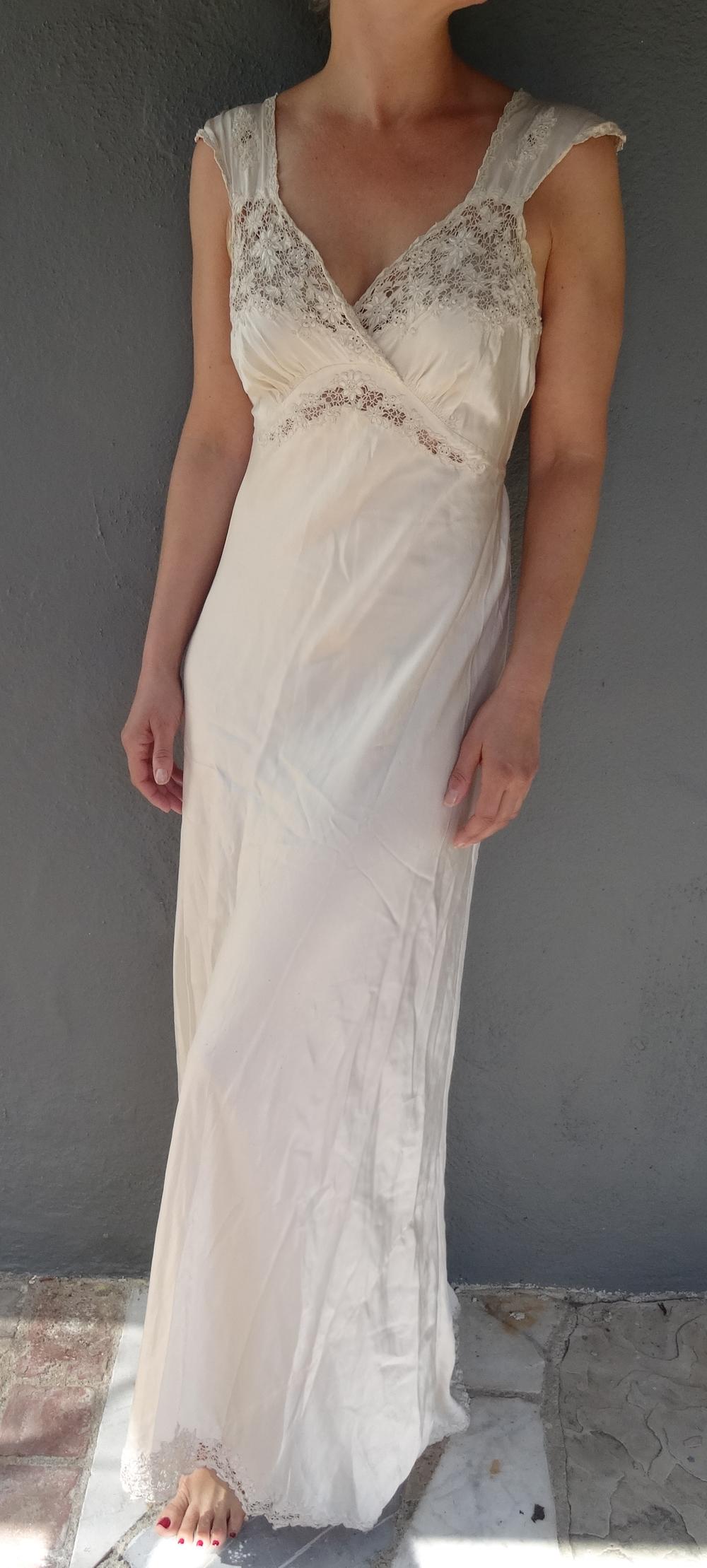 Vintage Silk Charmeuse Negligee