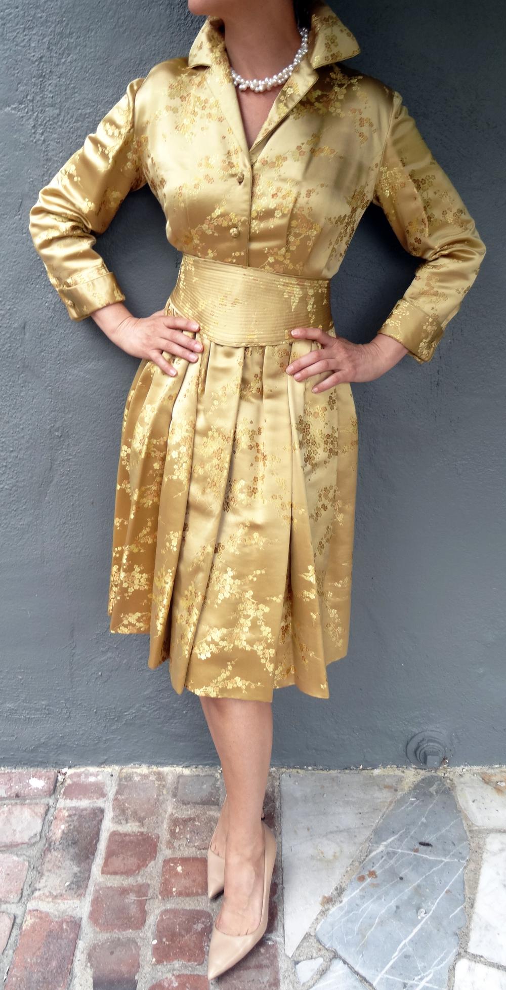 Hand made brocade silk dress
