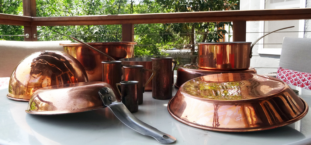 Mom's copper pots