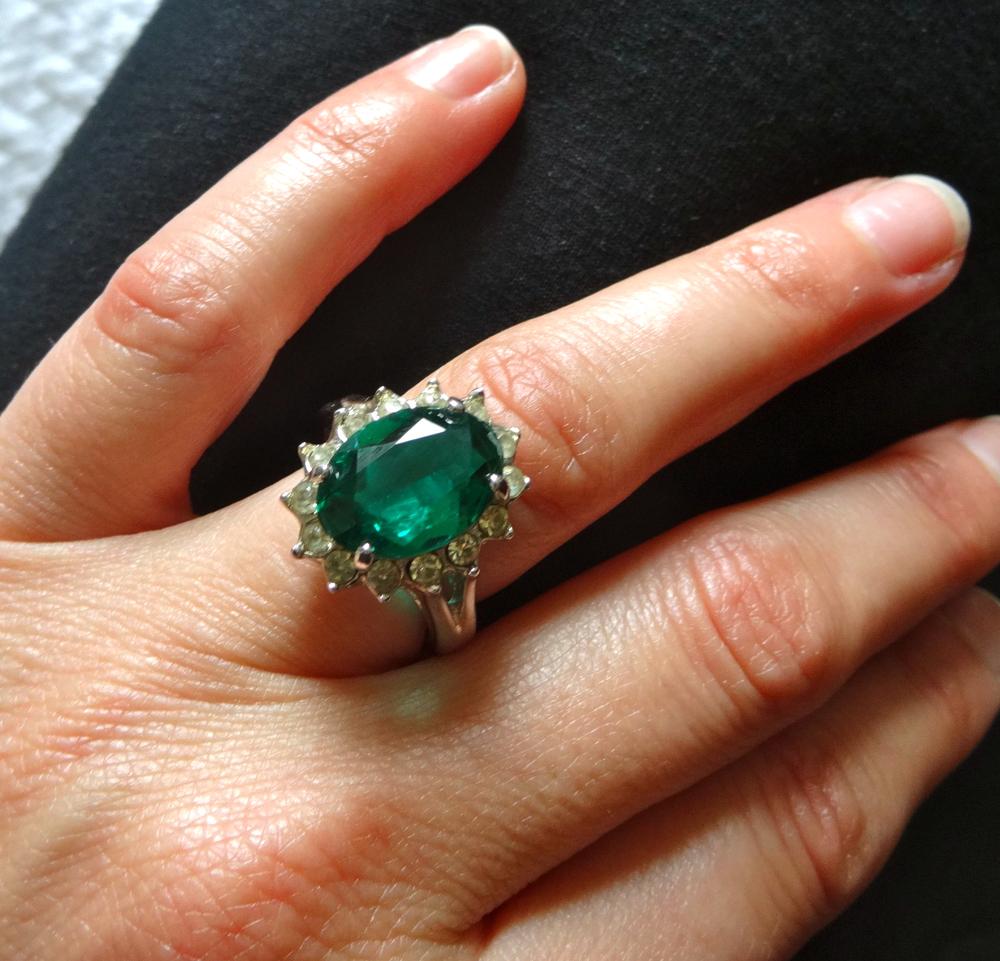Faux Emerald Solitaire