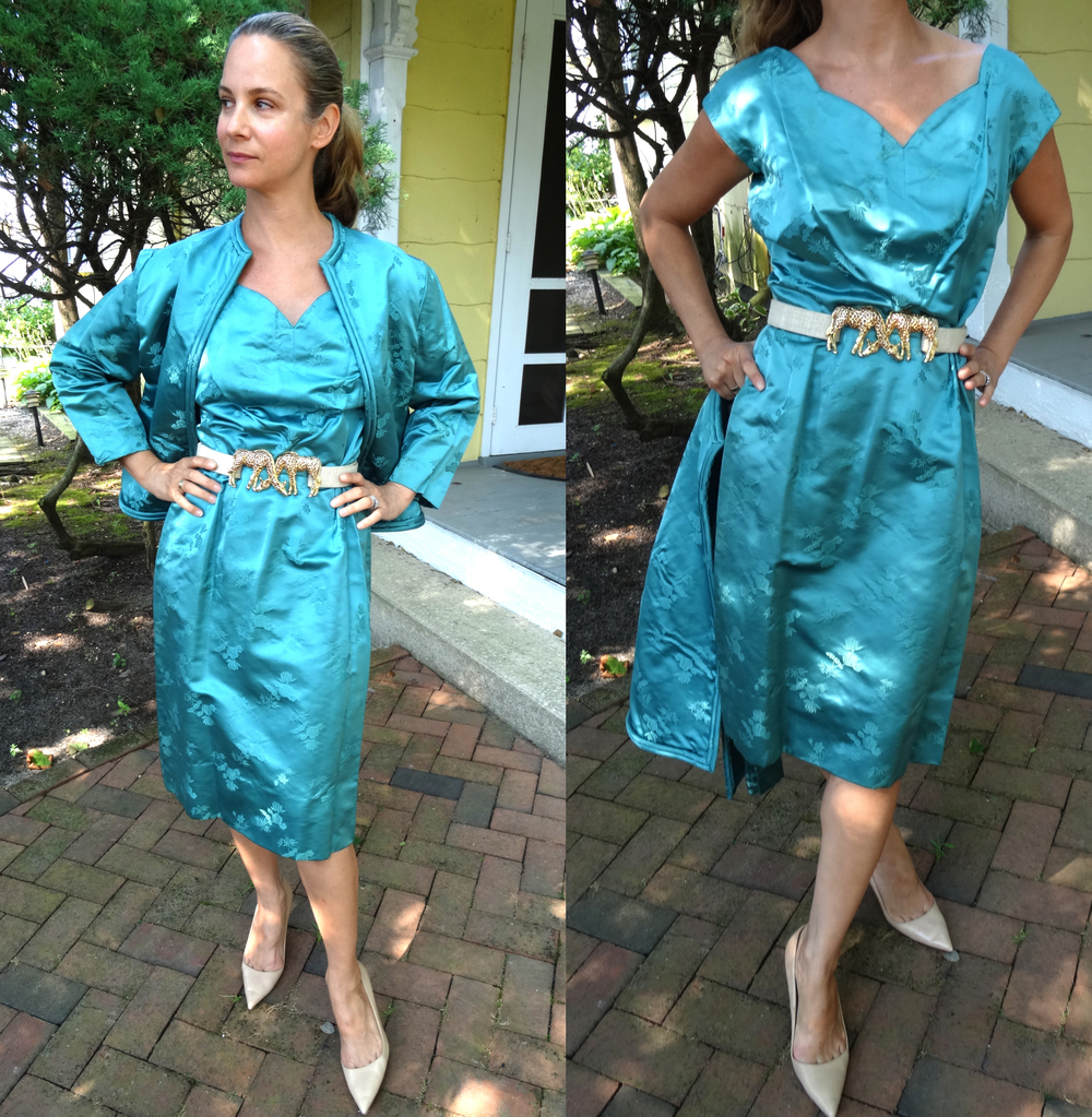 Teal Silk Ensemble