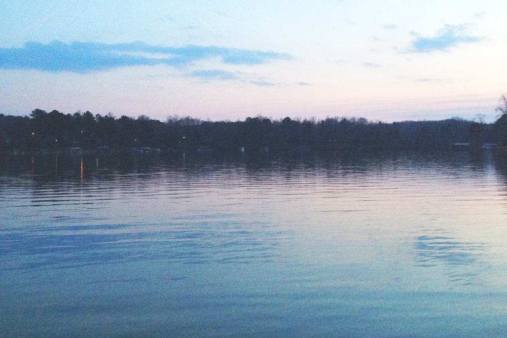 Lake Lanier at dusk.