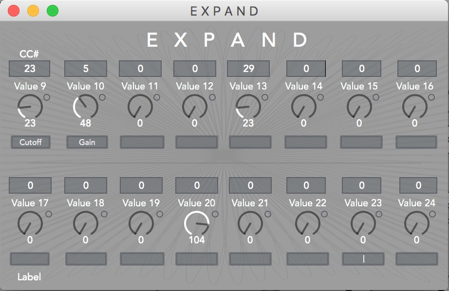 E X P A N D  Module provides sixteen additional assignable dials for CC control.