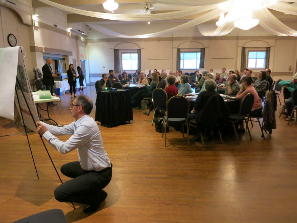 A visioning session in Victoria, BC in support of a renewed neighbourhood plan for Dockside Green.