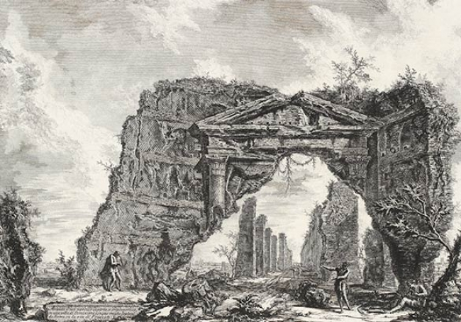 "[Etching from Piranesi's ""Veduti"" series, 1756]"