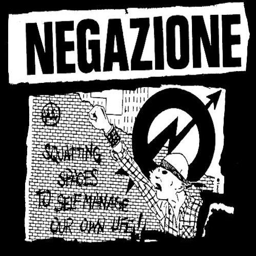 "[Roman punk band Negazione (""Denial"") record cover, ""Something"", 1985]"
