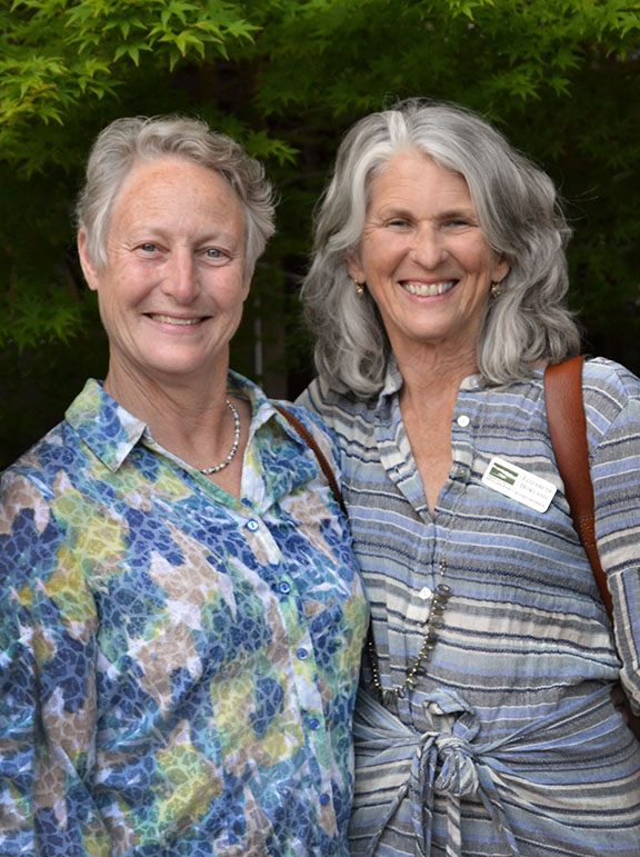 Lee Boyes with Friends of the Petaluma River founding board member Elizabeth Howland.