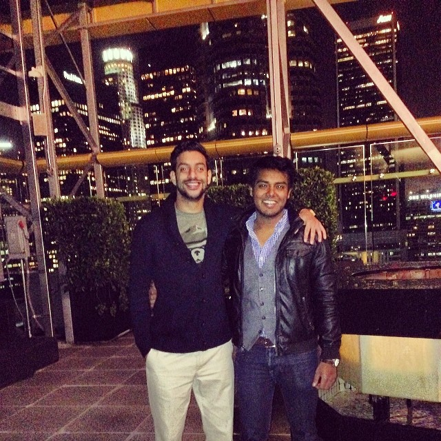 Last night's shenanigans. The fire of friendship never burns out. Happy to have spent my last night in LA with my boy from Texas. #LA #1010Wilshire #friendship
