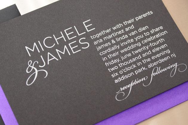 Michele U0026 James Wedding Invitation
