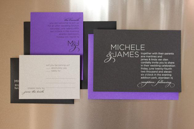 Michele & James Wedding Invitation — Three Little Words