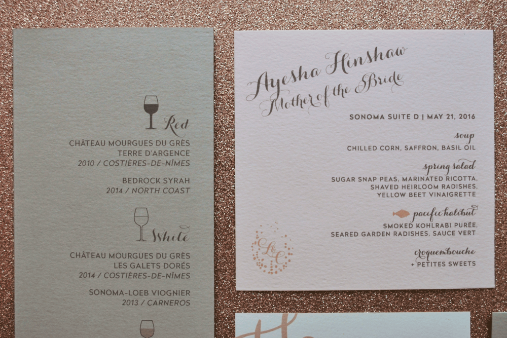 Personalized Dinner Menu