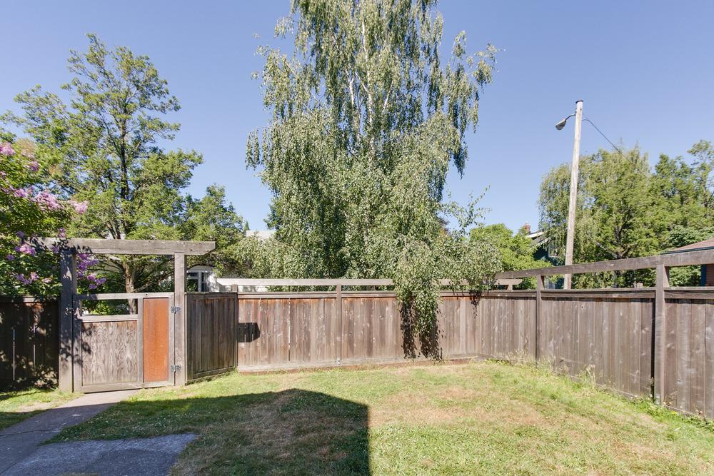 Large fenced back yard