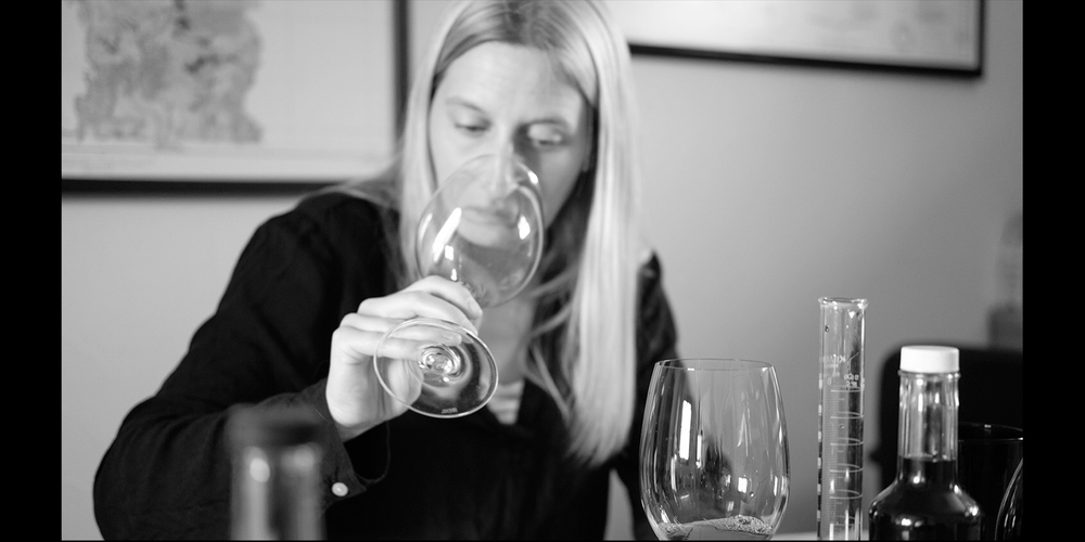 Claire finalizing the blendof Padlock 2014, April 2016 Copyright Robb McDonough