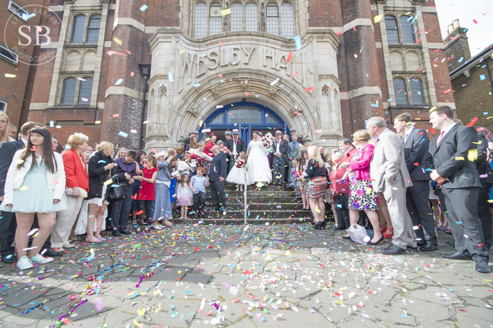 Group-Shot-Confetti- London-Church-Wedding