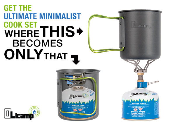The Olicamp Ion and Space Saver Mug combo is the ideal cook set for solo adventures.