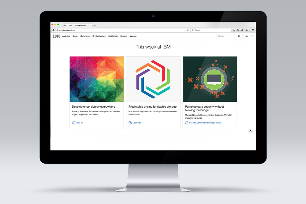The final design was featured on the landing page of ibm.com gaining national exposure