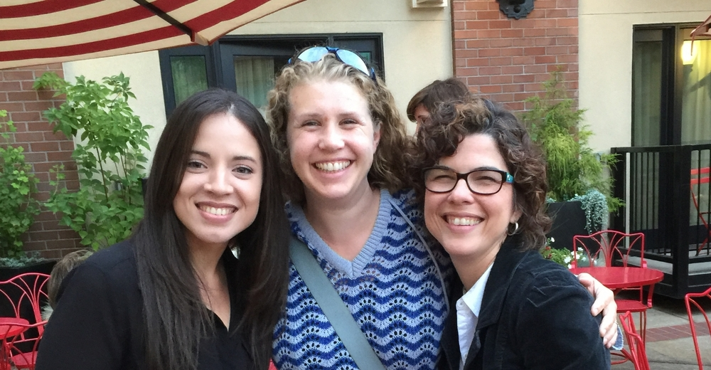 Jeisianne, Audrey Oldham (Lab alum), and Melanie during Padres Preparados activities in Eugene, OR,