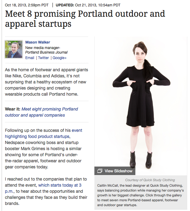 Portland Business Journal 10/18/13