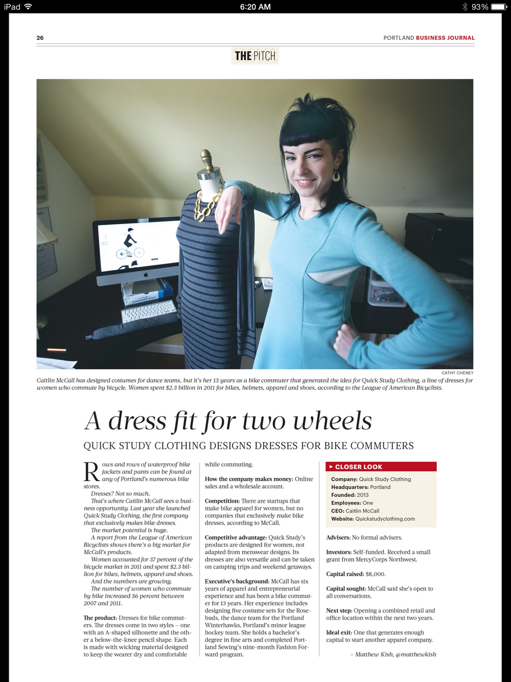 Portland Business Journal 3/21/14