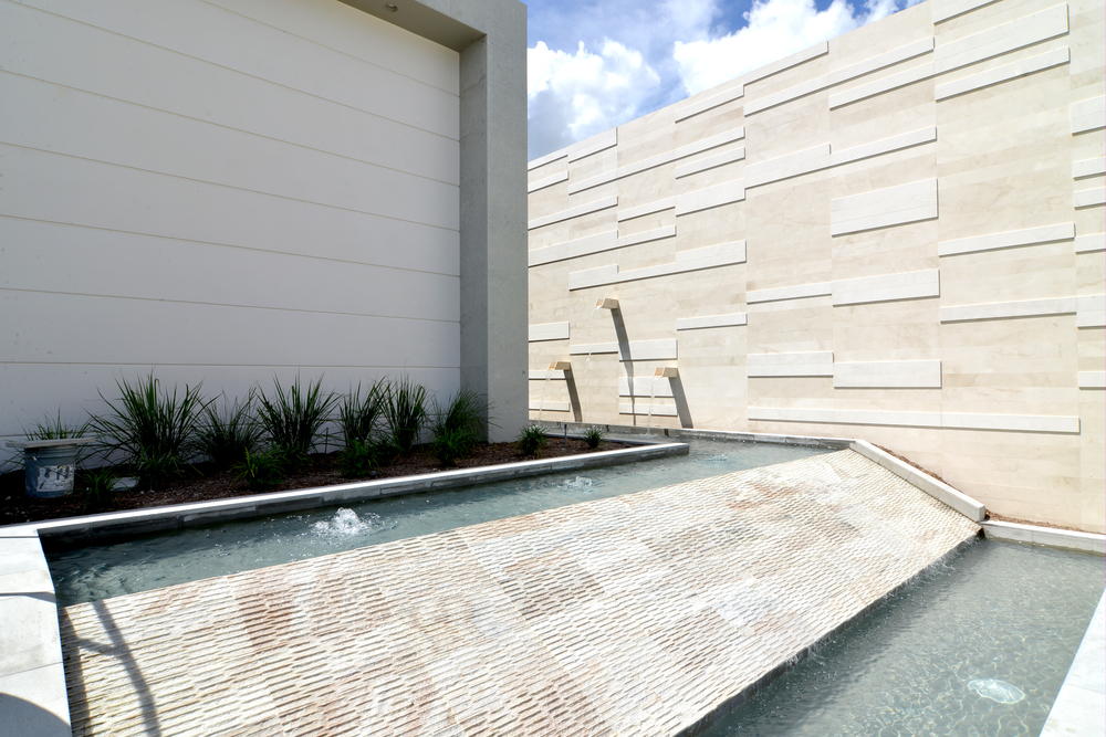 Water Feature and Feature Wall