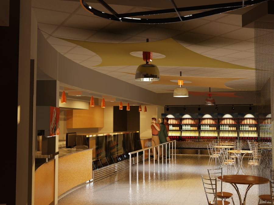 3D Rendering of Deli