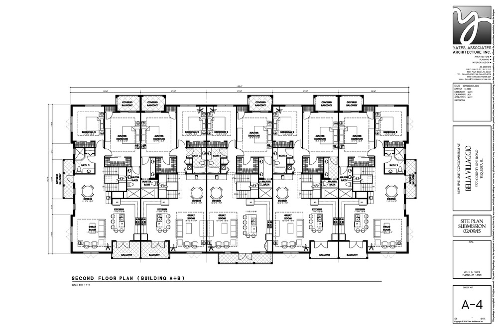 5 Unit Second Floor Plan