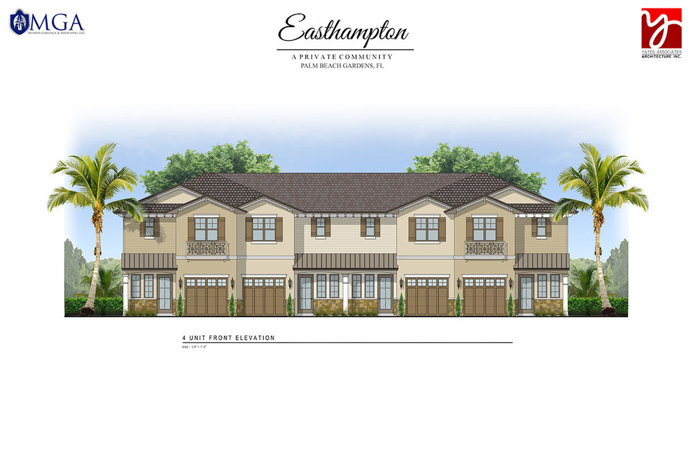 Four Unit Elevation