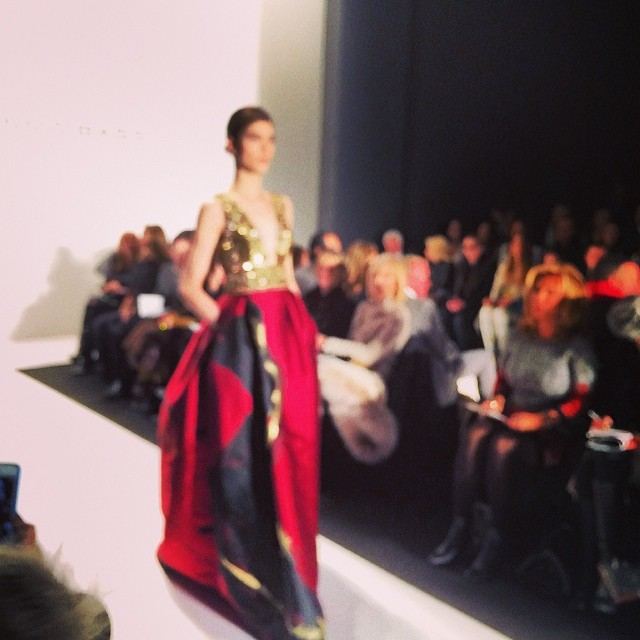 Amazing reds and golds @DennisBasso #mbfw
