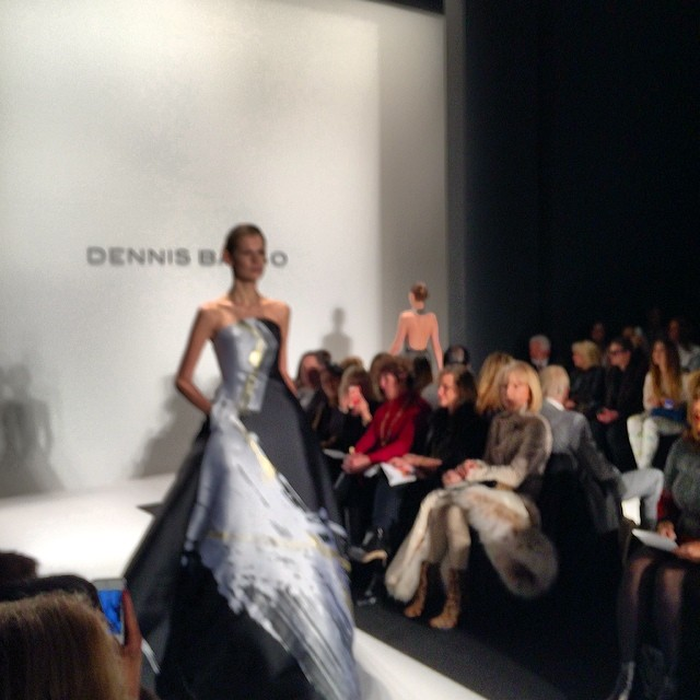 Love this @dennisBasso evening gown. Gorgeous! #mbfw