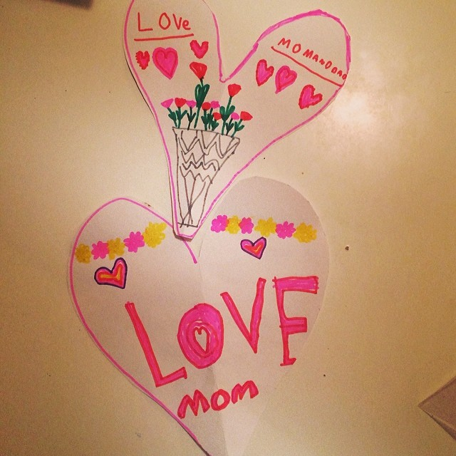 Best Valentines ever.  #cutestvalentine #darlinggirl #ilovemom